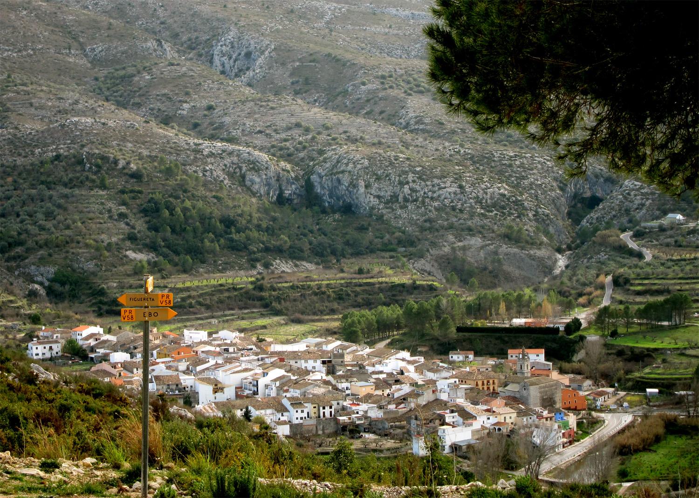 Byen Ebo set fra oven