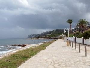 Les Rotes strandpromenade